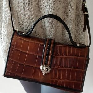 BRIGHTON vintage crossbody w/ wallet style compart